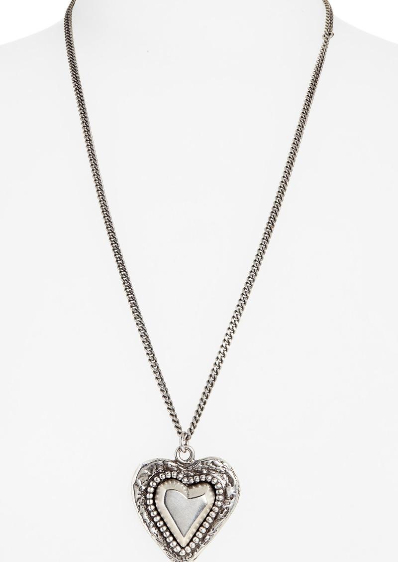 Saint Laurent Heart Pendant Necklace