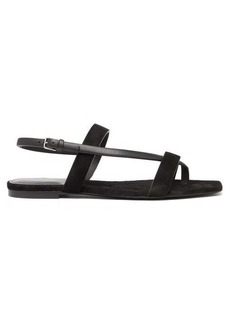 Saint Laurent Hiandra square-toe suede sandals