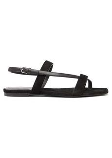Saint Laurent Hiandra square-toe suede sandals