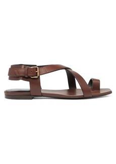 Saint Laurent Hiandra toe-loop leather sandals