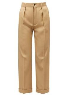 Saint Laurent High-rise wool-gabardine straight-leg trousers