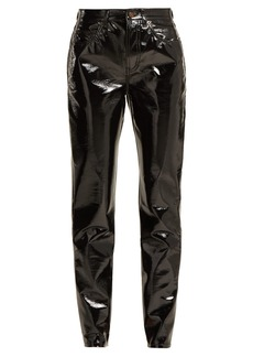 Saint Laurent High-rise PVC trousers