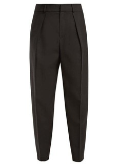 Saint Laurent High-rise tapered-leg wool trousers