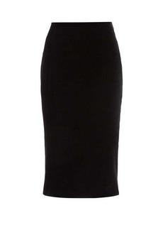 Saint Laurent High-rise velvet pencil skirt