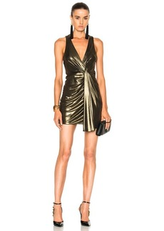 Saint Laurent Jersey Twist Front Sleeveless Dress