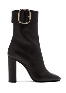 Saint Laurent Joplin leather buckle ankle boots