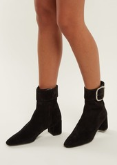 42c377addcddb Saint Laurent Saint Laurent Joplin suede buckle ankle boots Now  837.00