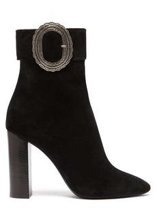 Saint Laurent Joplin Western suede boots