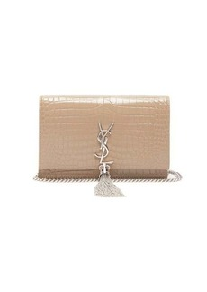 Saint Laurent Kate crocodile-effect leather cross-body bag