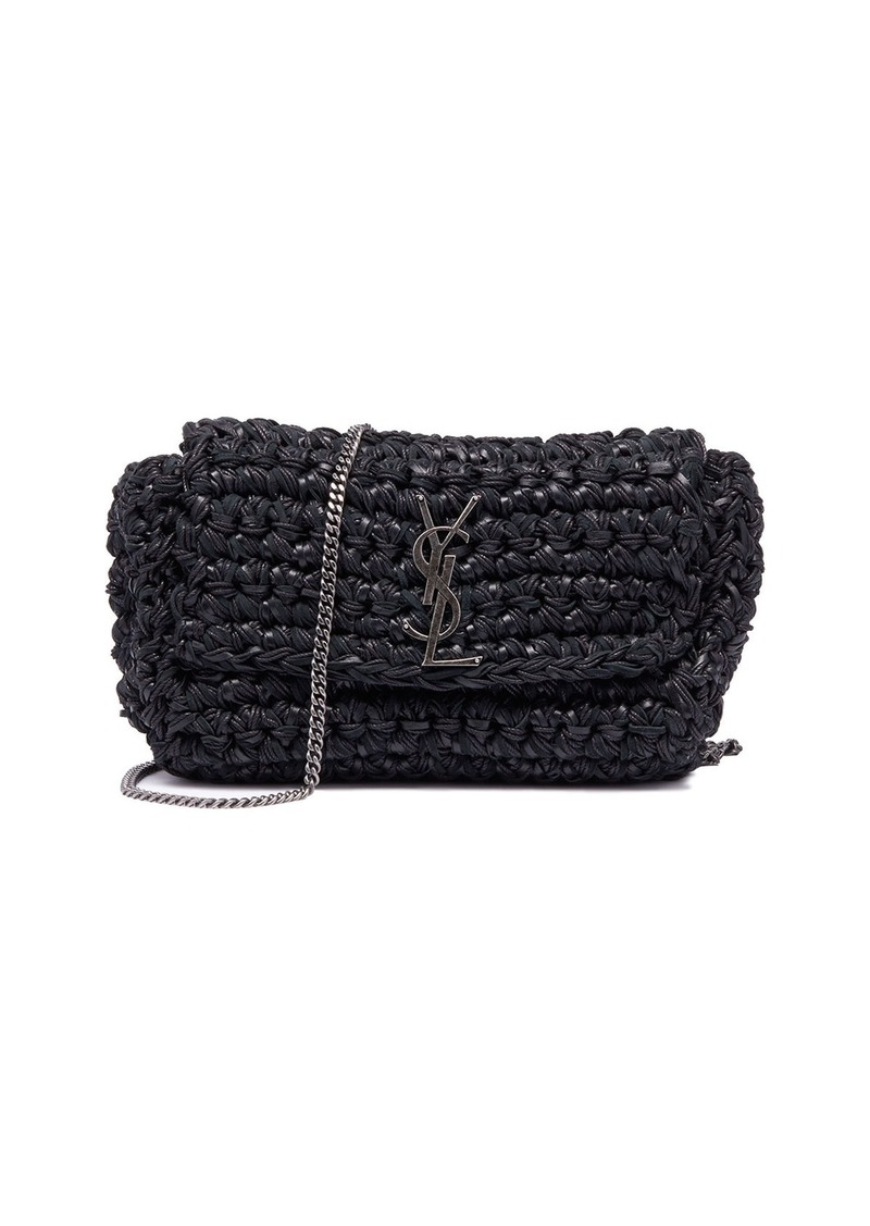 e67e88307e Kate Medium YSL Monogram Raffia Crossbody Bag