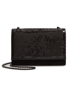 Saint Laurent Kate Paillette Embellished Crossbody Bag