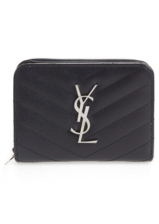 Saint Laurent 'Kate' Quilted Calfskin Leather French Wallet