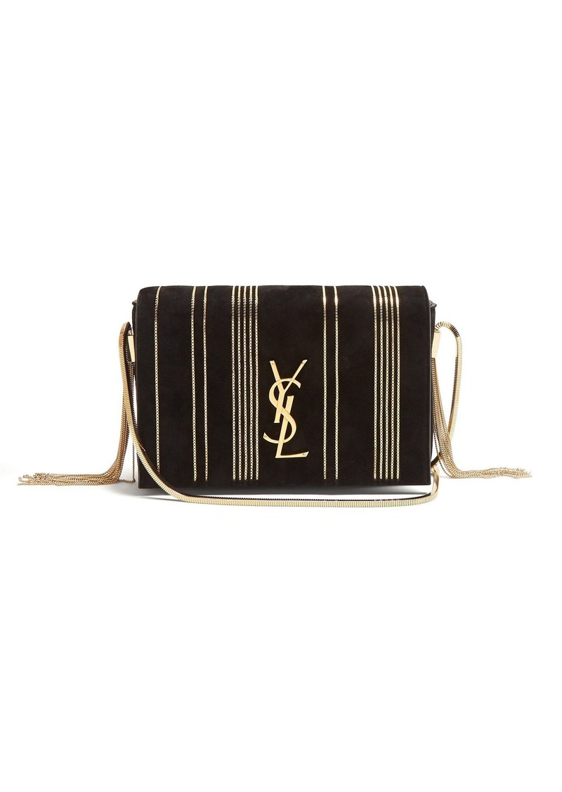 e25728a88f5b SALE! Saint Laurent Saint Laurent Kate small chain-embellished suede ...