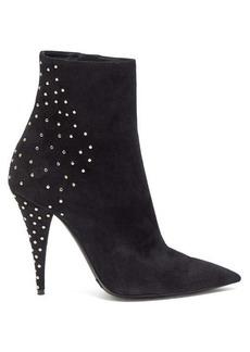 Saint Laurent Kiki studded suede boots