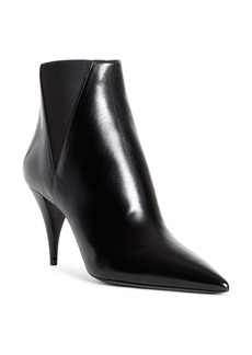 Saint Laurent Kiki Pointed Toe Chelsea Bootie (Women)