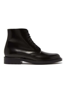 Saint Laurent Lace-up leather army boots