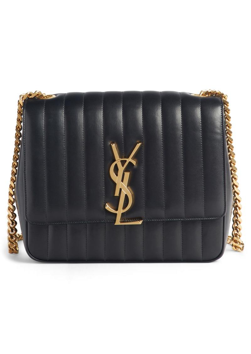 576564d2050 Saint Laurent Saint Laurent Large Vicky Leather Crossbody Bag   Handbags