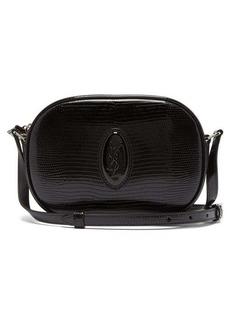 Saint Laurent Le 61 snake-effect patent leather cross-body bag