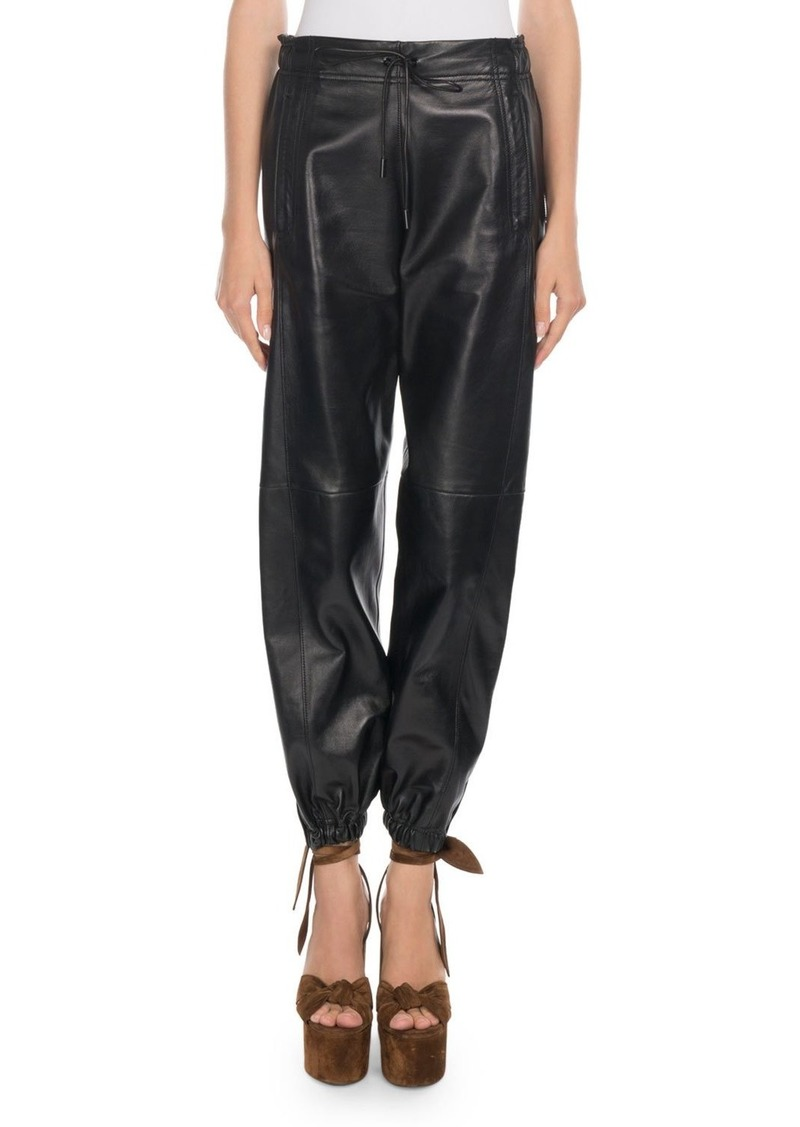8512936a11b Saint Laurent Saint Laurent Leather Jogger Pants | Casual Pants