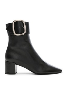 Saint Laurent Leather Joplin Buckle Ankle Boots