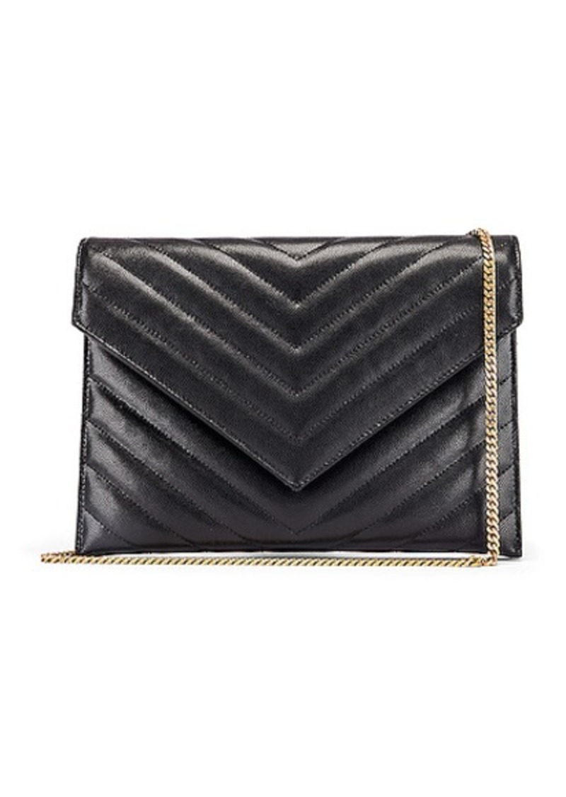 Saint Laurent Leather Tribeca Chain Wallet Bag