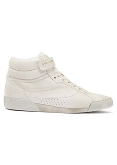Saint Laurent Lenny high-top leather trainers