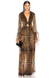 Saint Laurent Leopard Dress