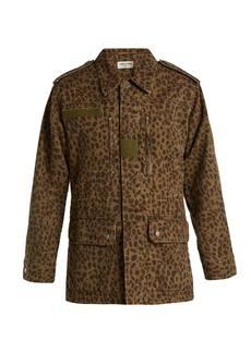 Saint Laurent Leopard-print denim jacket