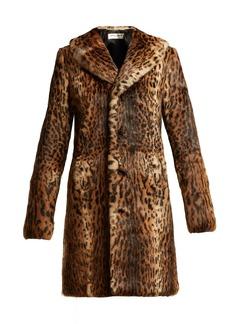 Saint Laurent Leopard-print rabbit-fur coat