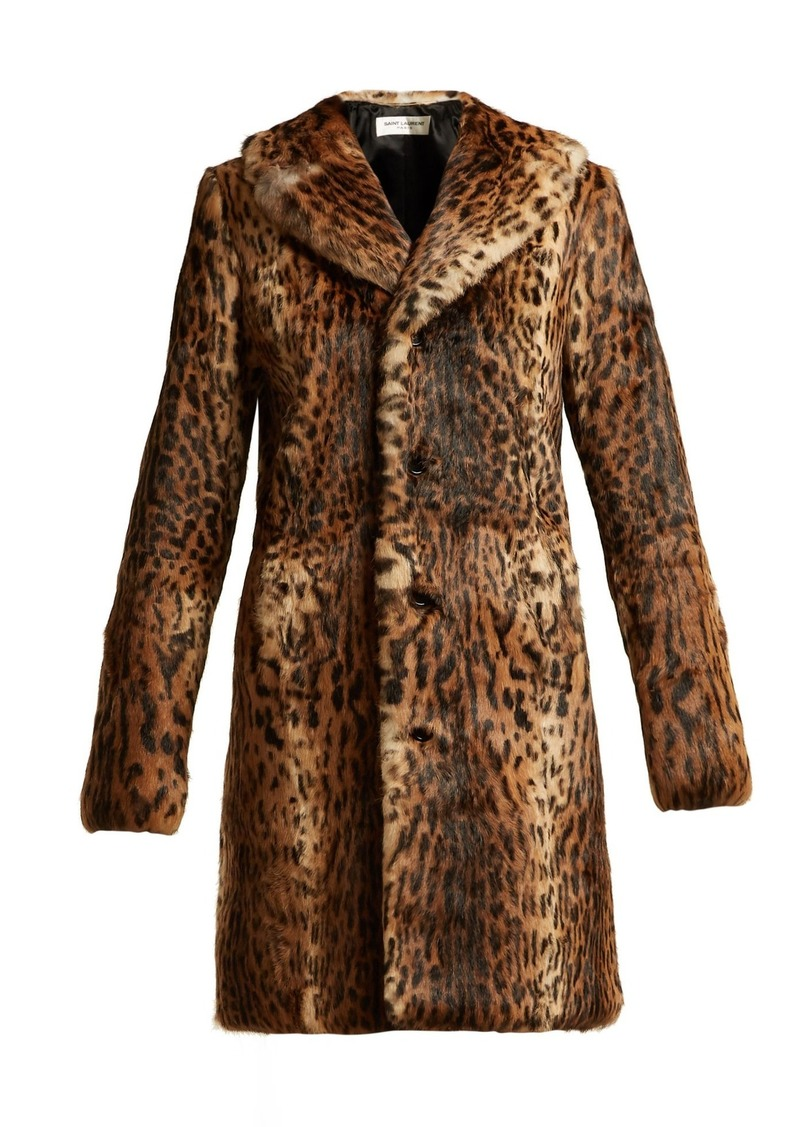 20178c854644 Saint Laurent Saint Laurent Leopard-print rabbit-fur coat