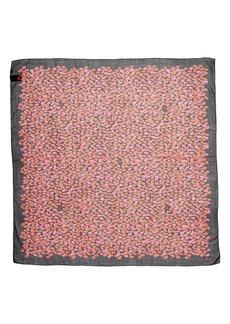 Saint Laurent Lip Print Wool Scarf