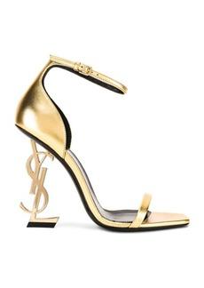 Saint Laurent Logo Ankle Strap Heel