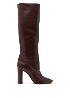 Saint Laurent Lou leather knee-high boots