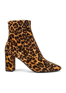 Saint Laurent Lou Leopard Booties