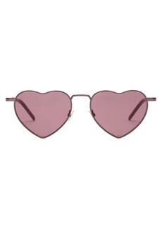 Saint Laurent Lou Lou heart metal sunglasses