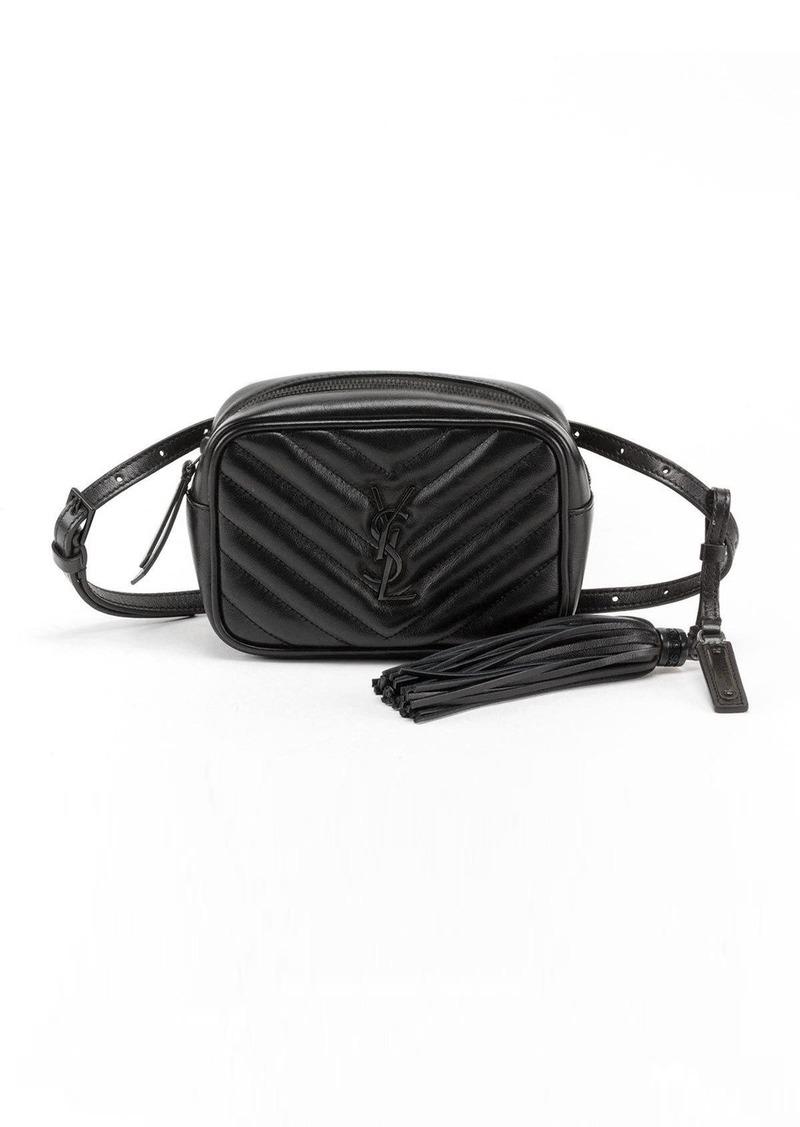 8ef47e6960 Lou Monogram YSL Quilted Leather Belt Bag - Black Hardware