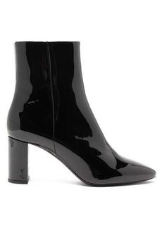 Saint Laurent Lou patent-leather ankle boots