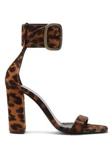 Saint Laurent Loulou buckled leopard-print sandals