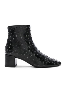 Saint Laurent Loulou Crystal Studded Leather Ankle Boots