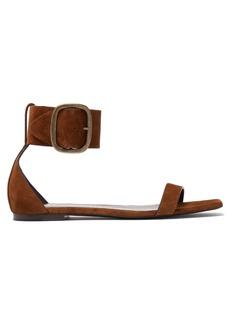 Saint Laurent Loulou suede buckle sandals