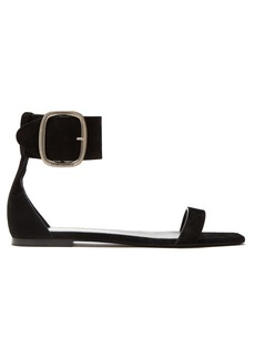 Saint Laurent Loulou suede buckle sandals