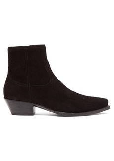 Saint Laurent Lukas western suede ankle boots