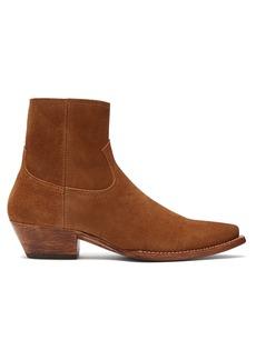 Saint Laurent Lukas western suede ankle boots