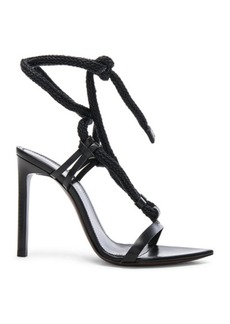 Saint Laurent Majorelle Leather Strappy Sandals