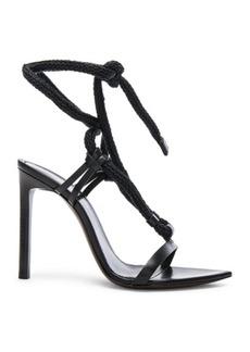 Saint Laurent Majorelle Leather Strappy Sandals