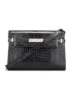 Saint Laurent Manhattan Croc Shoulder Bag