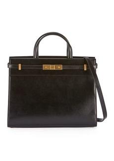 Saint Laurent Manhattan Small Leather Shoulder Tote Bag
