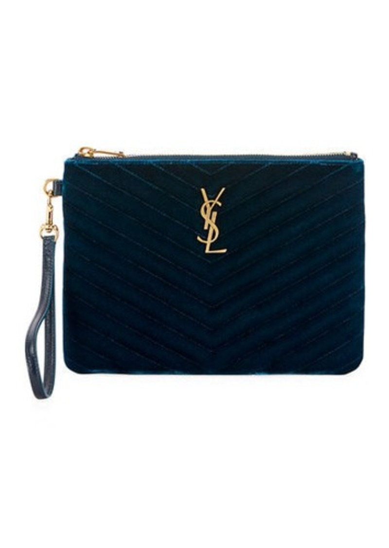 00b80fed135 Saint Laurent Saint Laurent Master Small Velvet Monogram YSL ...
