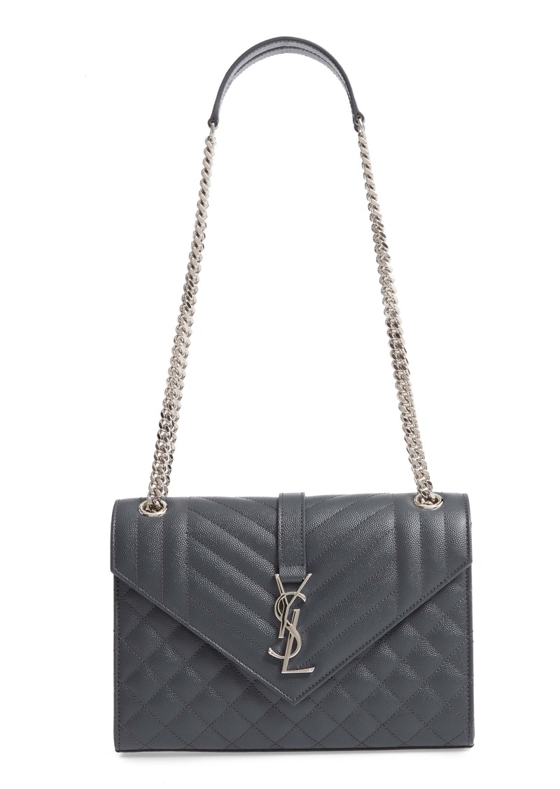 Saint Laurent Medium Cassandra Calfskin Shoulder Bag