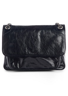 Saint Laurent Medium Niki Smooth Leather Shoulder Bag